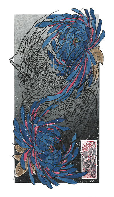 BB - Draw of the Orient 2019 - Blue Chrysanthemum