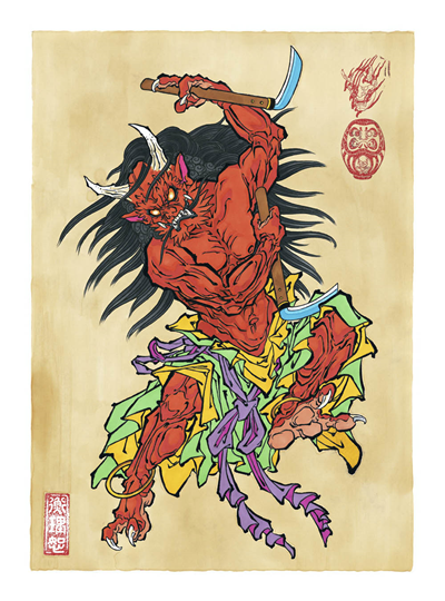 HM - Draw of the Orient - Oni Red